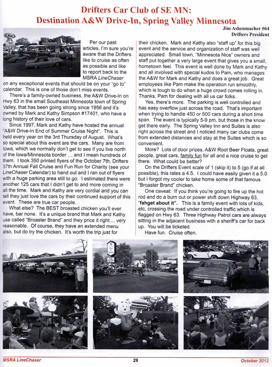 MN Street Rod Oct 2012 Issue Article